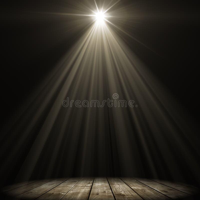 Iluminação do ponto do estágio ilustração royalty free