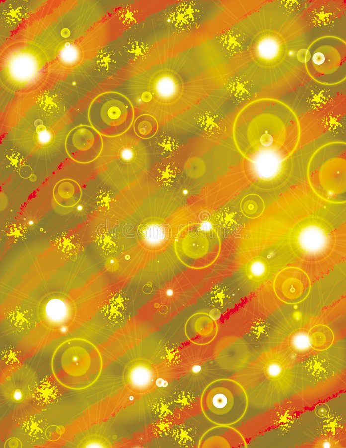 Iluminação dos bulbos do Natal ilustração royalty free