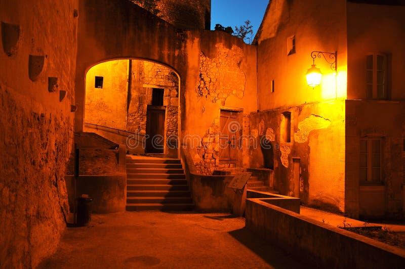 Iluminação na cidade velha de Burges imagens de stock