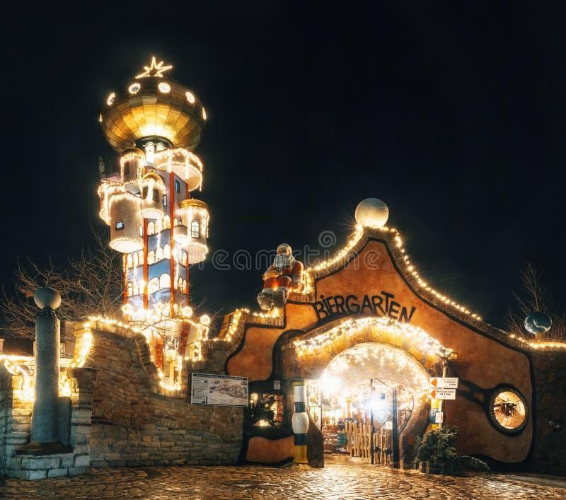 Iluminações do Natal em Abensberg, Alemanha fotos de stock royalty free