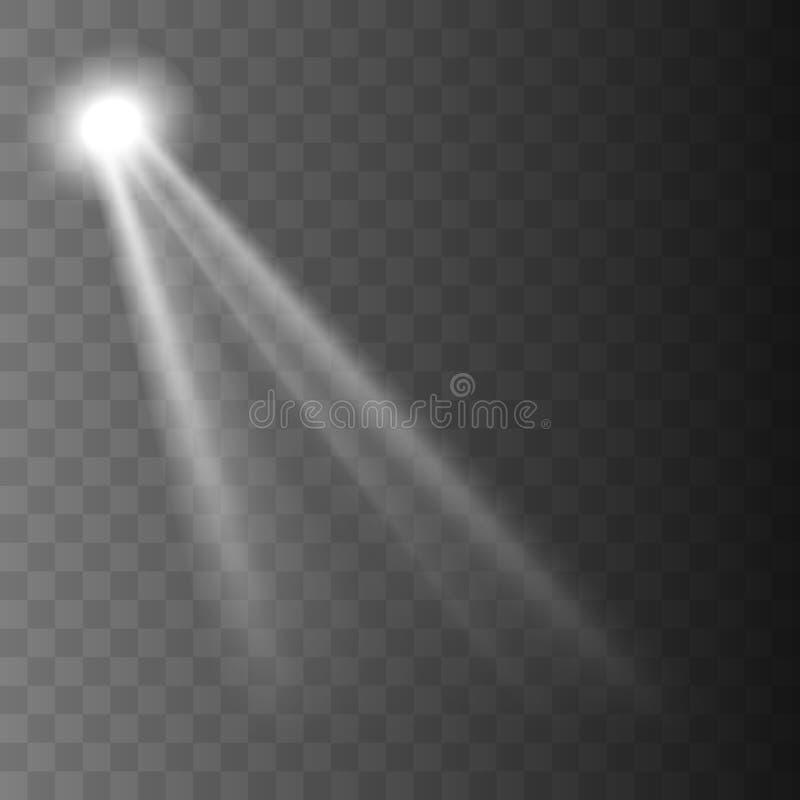 Ilumina??o brilhante com projetores ilustração royalty free