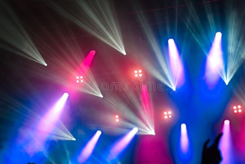 Iluminación colorida del concierto imágenes de archivo libres de regalías