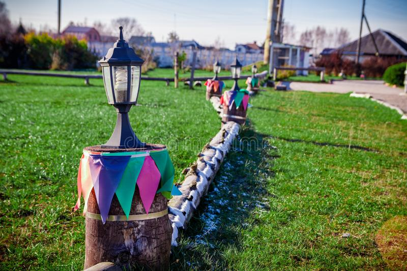 Iluminación creativa con las lámparas foto de archivo libre de regalías