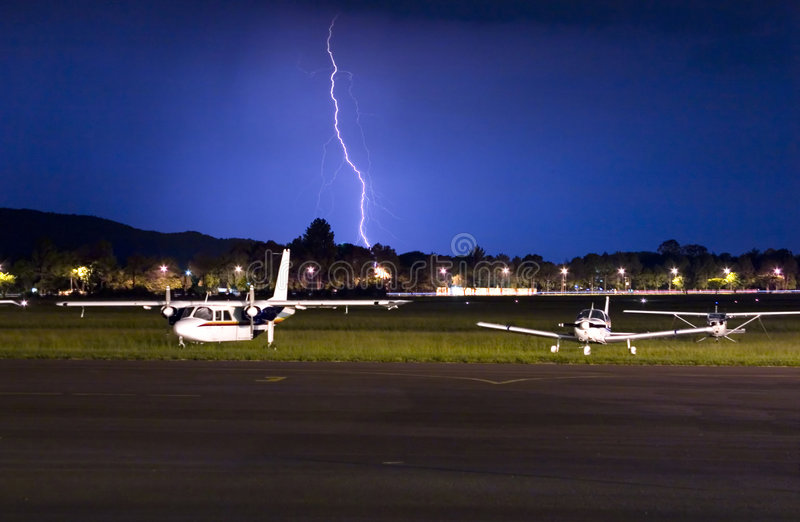 Iluminación de Cessna fotos de archivo