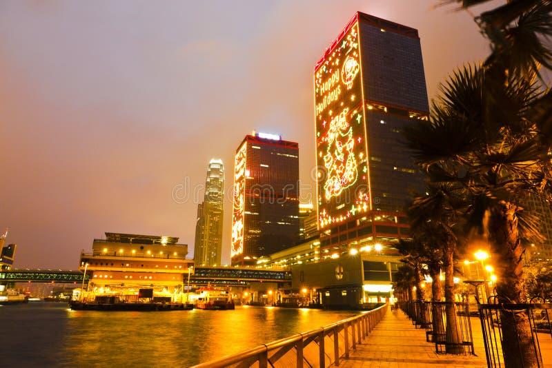 Iluminación de Chrismas del puerto imagen de archivo libre de regalías