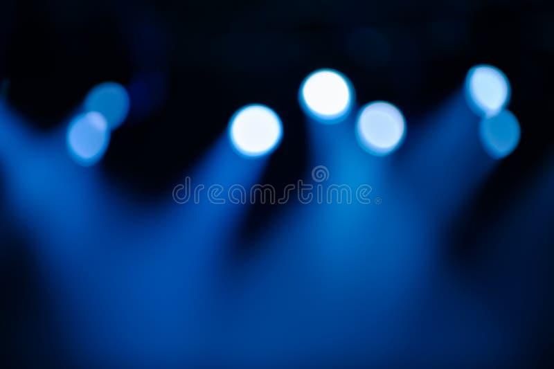 Iluminación de etapa Defocused fotos de archivo