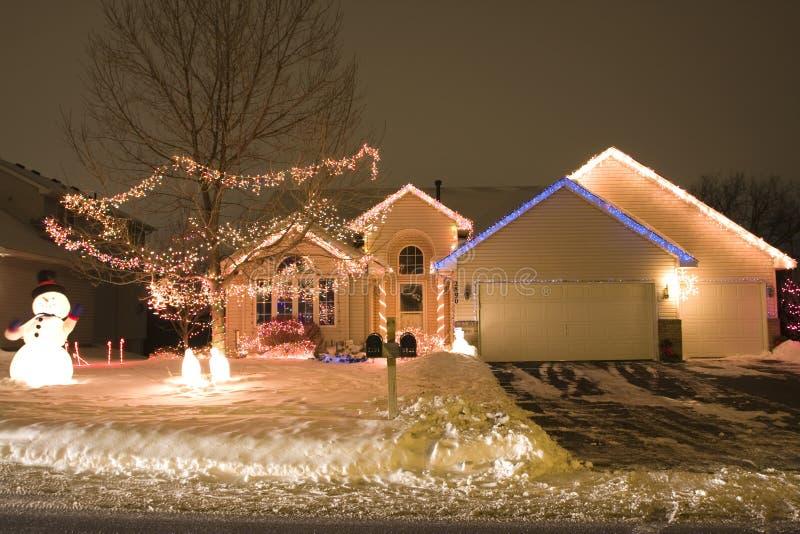 Iluminación de la Navidad imagen de archivo libre de regalías