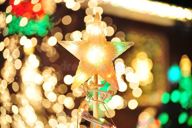 Iluminación de la Navidad imagen de archivo