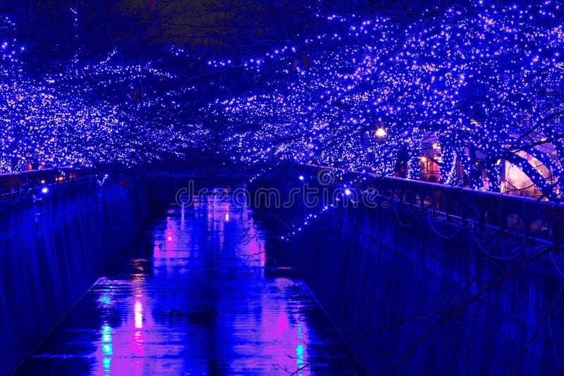 Iluminación de la Navidad de Tokio foto de archivo