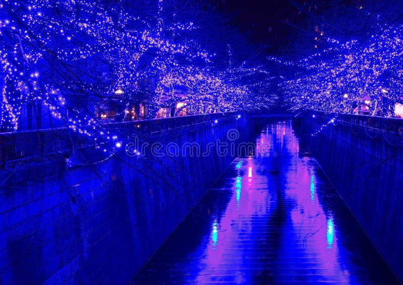 Iluminación de la Navidad de Tokio imágenes de archivo libres de regalías