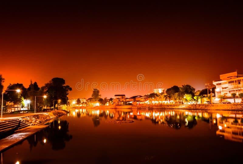 Iluminación de la noche imagenes de archivo