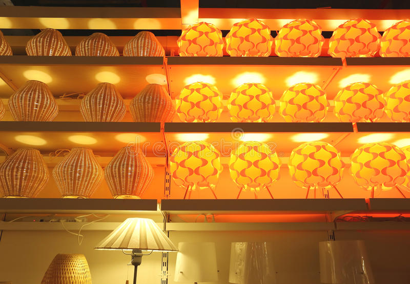 Iluminación de la tienda imagen de archivo libre de regalías