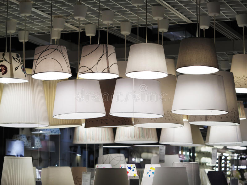 Iluminación de la tienda imagen de archivo