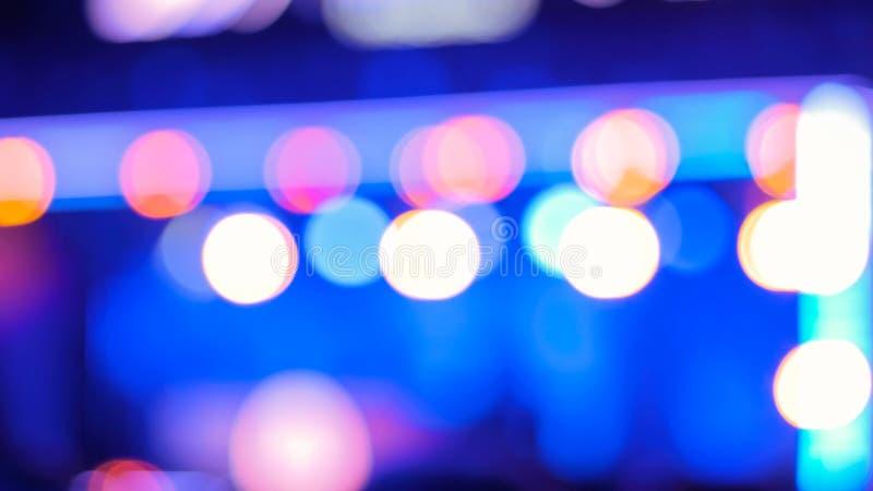 Iluminación Defocused del concierto foto de archivo libre de regalías