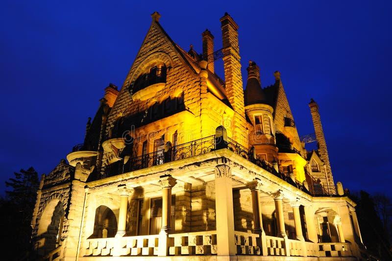 Iluminación del castillo imagenes de archivo
