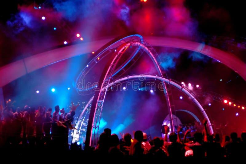Iluminación del concierto foto de archivo