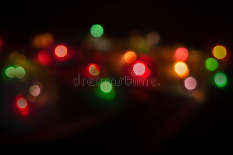 Iluminación del fondo oscuro de Bokeh fotos de archivo