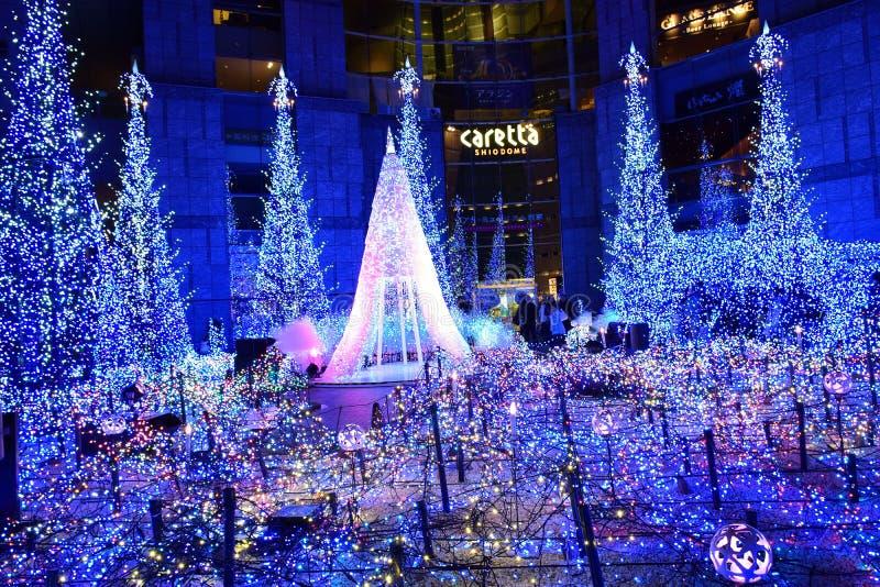 Iluminación del invierno en Japón imagenes de archivo