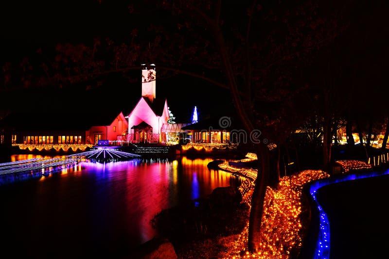 Iluminación del invierno en Mie, Japón imagen de archivo libre de regalías