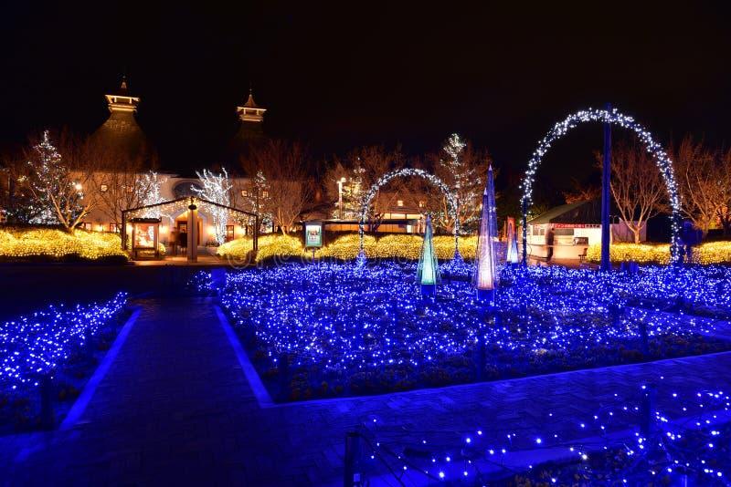 Iluminación del invierno en Mie, Japón fotografía de archivo