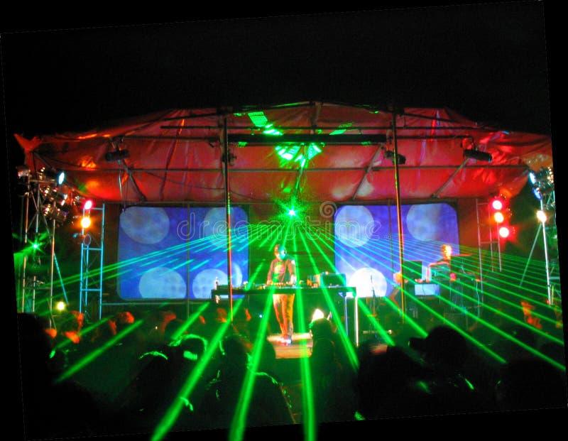 Iluminación del laser del partido foto de archivo