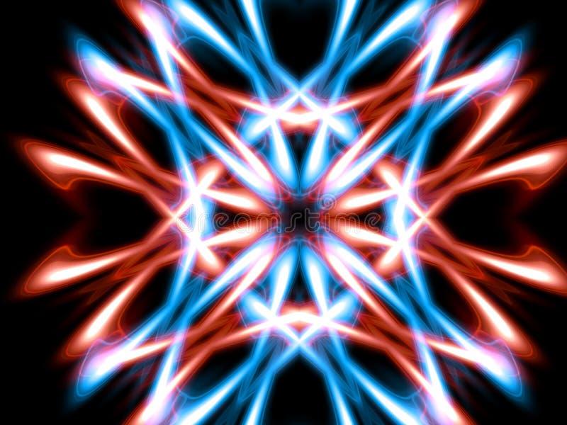 Iluminación del rojo azul foto de archivo libre de regalías