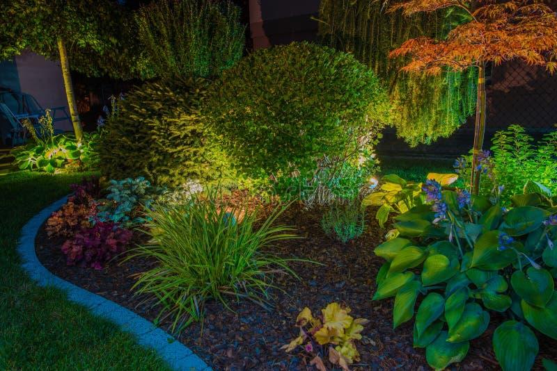 Iluminación elegante del jardín fotografía de archivo
