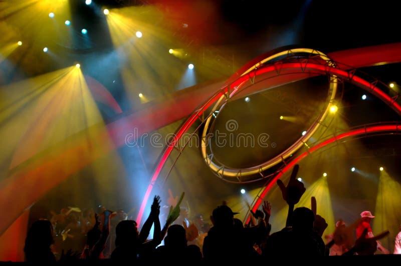 Iluminación en el concierto foto de archivo libre de regalías
