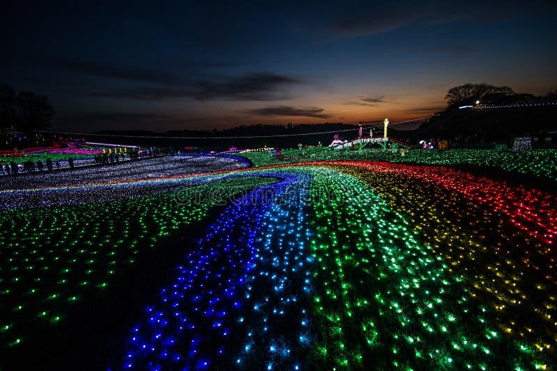 Iluminación en pueblo del alemán de Tokio imágenes de archivo libres de regalías