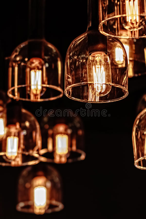 Iluminación interior de la decoración fotos de archivo