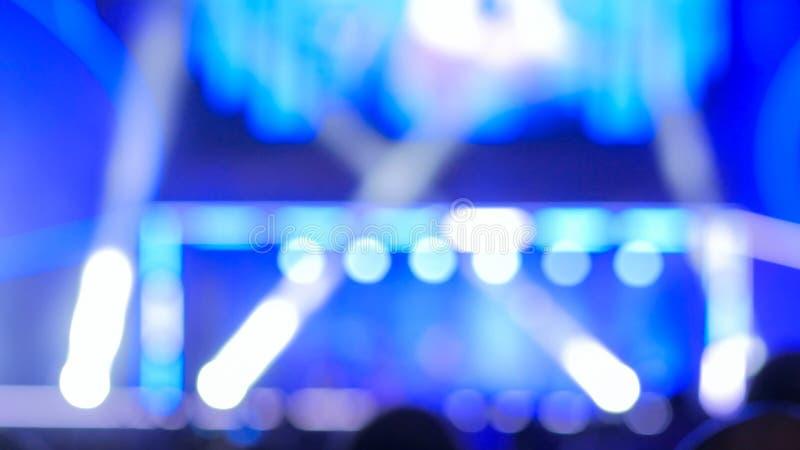 Iluminaci?n Defocused del concierto imagen de archivo