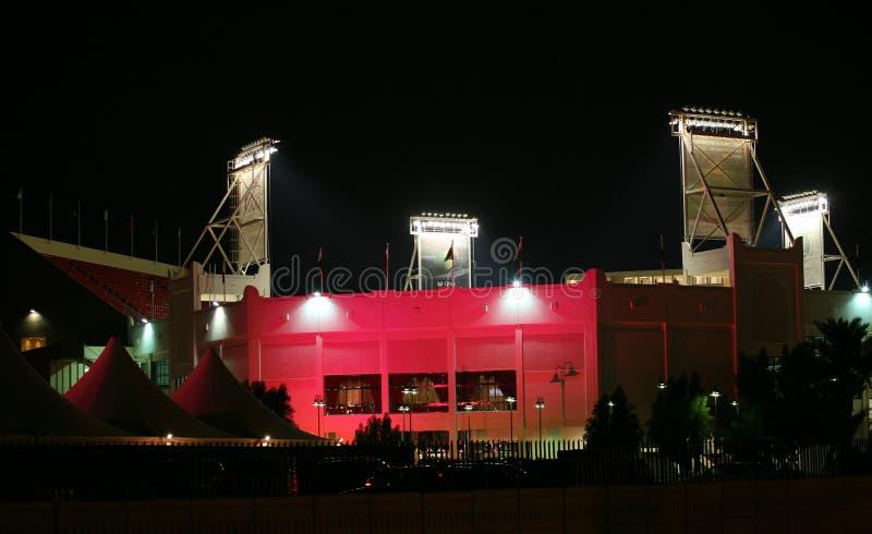 iluminaci Qatar stadium tenis zdjęcie royalty free