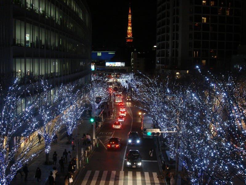 Iluminaci Tokio wierza obrazy stock