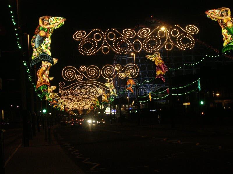 Iluminaciones de Blackpool de las sirenas. fotografía de archivo libre de regalías