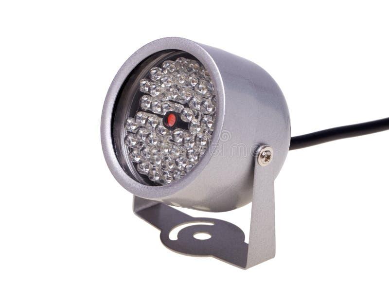 Iluminadores infrarrojos para el surveillanc del sistema de seguridad y video fotos de archivo libres de regalías