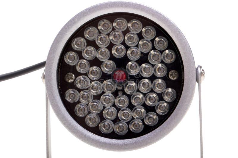 Iluminadores infrarrojos para el surveillanc del sistema de seguridad y video foto de archivo