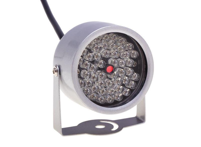 Iluminadores infrarrojos para el surveillanc del sistema de seguridad y video imagen de archivo libre de regalías