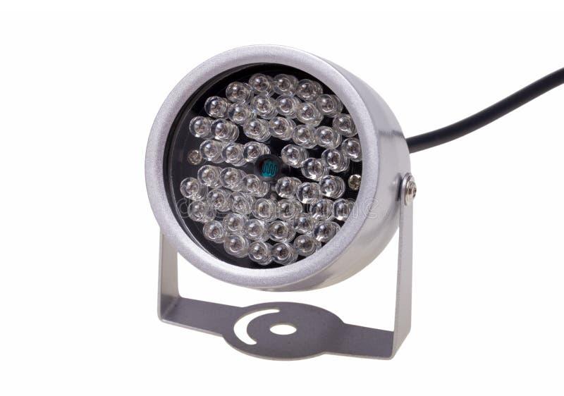 Iluminadores infrarrojos para el surveillanc del sistema de seguridad y video imágenes de archivo libres de regalías