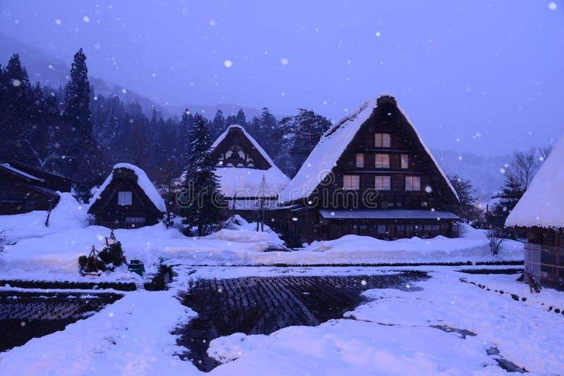 Iluminar-se Shirakawa-vai ato Japão fotos de stock