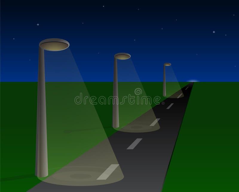 Iluminazioni pubbliche royalty illustrazione gratis