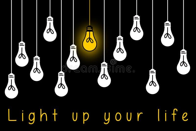 Ilumine acima a vida ilustração stock