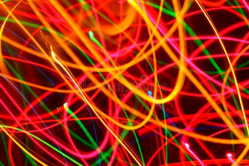 Ilumine linhas curvadas pintura fotografia de stock