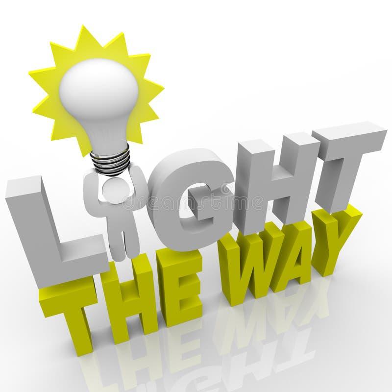 Ilumine a maneira - sucesso do sentido das luzes do líder ilustração do vetor