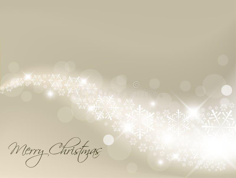 Ilumine o fundo abstrato de prata do Natal ilustração stock