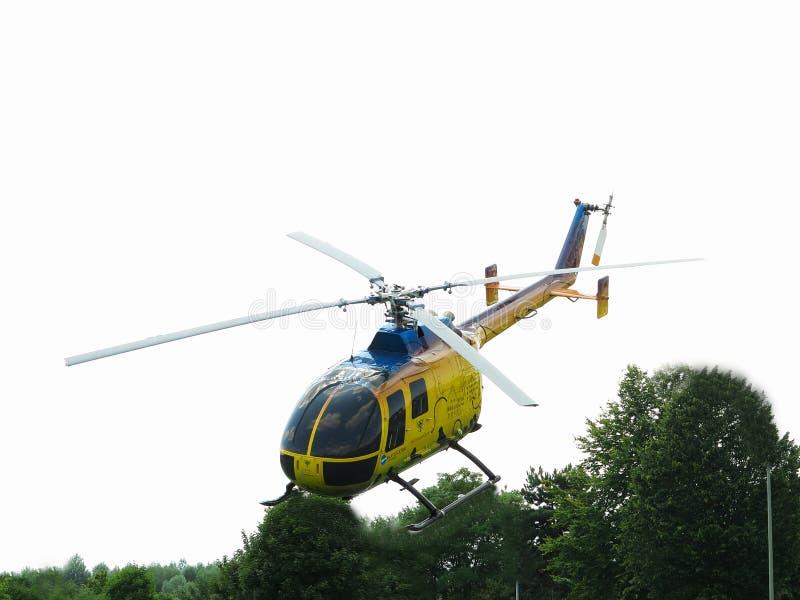Ilumine o helicóptero cénico imagem de stock