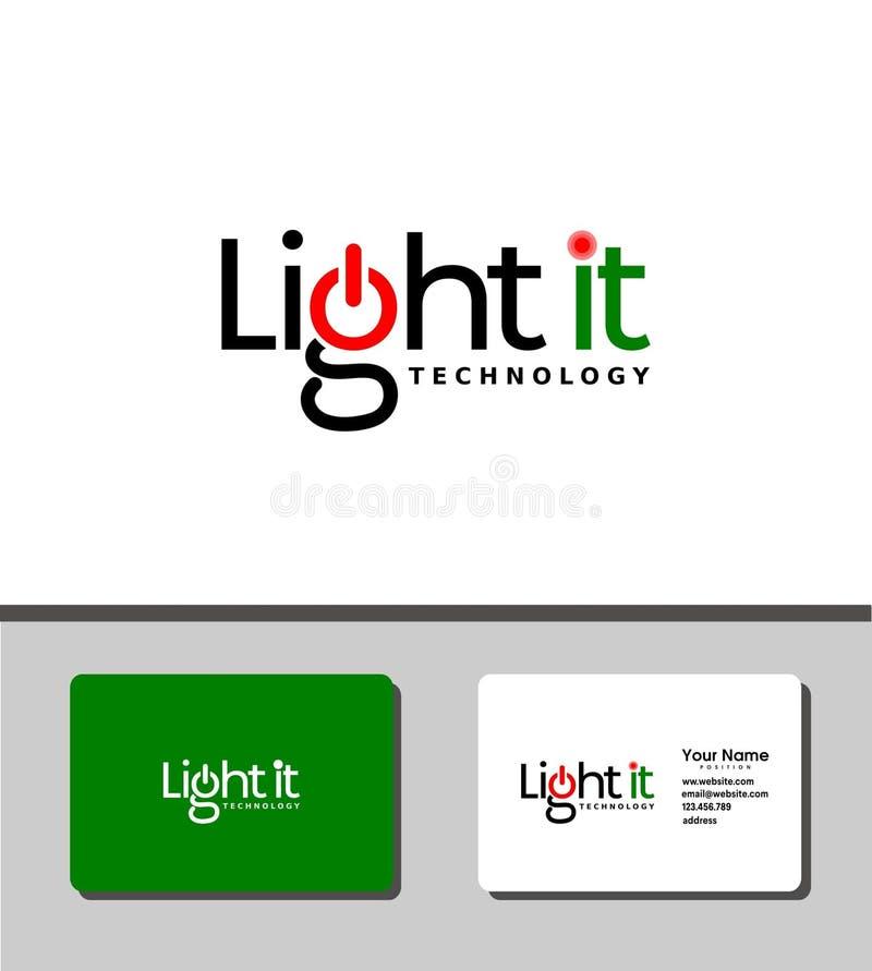 Ilumine-o logotipo ilustração royalty free