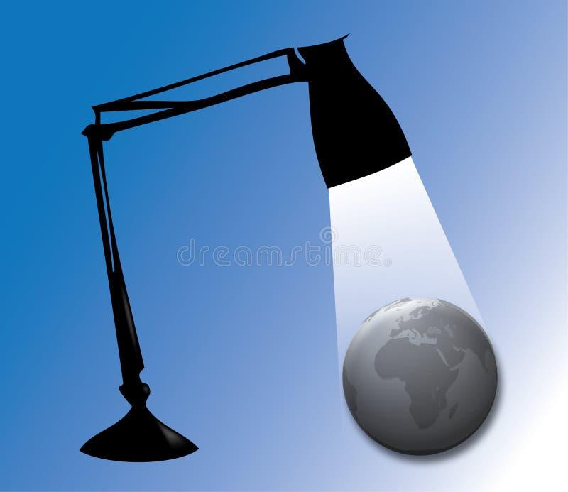Ilumine o mundo ilustração stock