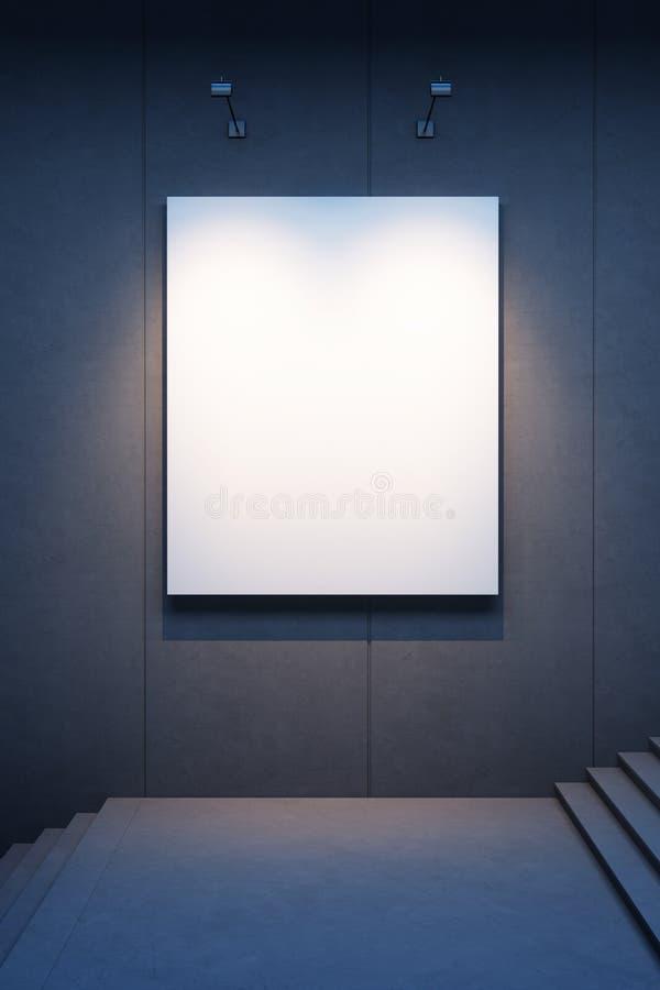 Ilumine o quadro de avisos vazio ilustração stock