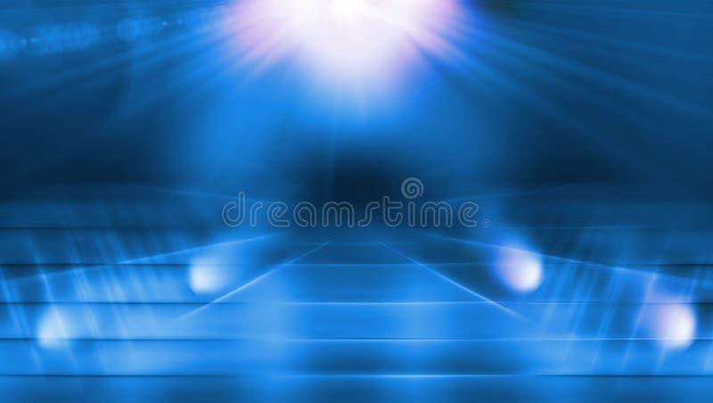 Ilumine a passagem com série do conceito do alargamento da lente ilustração royalty free
