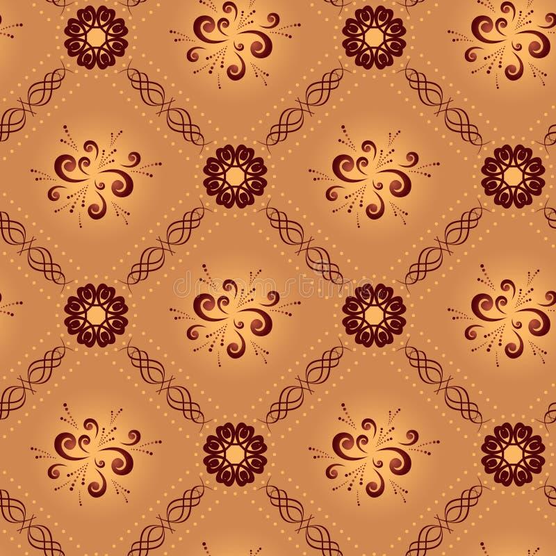Ilumine a textura sem emenda geométrica bege ilustração do vetor